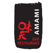 This is the restaurant logo for Amami Sushi