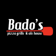 This is the restaurant logo for Bado's Pizza Grill & Ale House