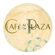 This is the restaurant logo for Cafe at the Plaza