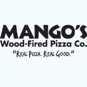 This is the restaurant logo for Mango's Wood-Fired Pizza Co.
