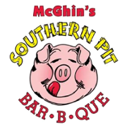 This is the restaurant logo for McGhin's Southern Pit Bar-B-Que
