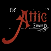 This is the restaurant logo for Attic Brewing Co.