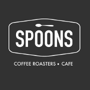 This is the restaurant logo for Spoons Cafe