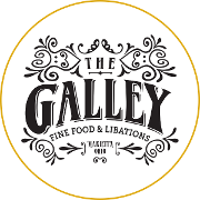 This is the restaurant logo for The Galley