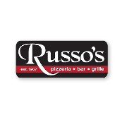 This is the restaurant logo for Russo's Pizzeria Bar & Grille