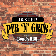 This is the restaurant logo for Jasper Pub 'N' Grub