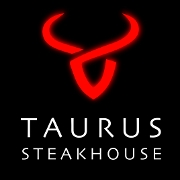 This is the restaurant logo for Taurus Steakhouse