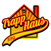 This is the restaurant logo for BBQ Trapp Haus