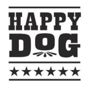 This is the restaurant logo for Happy Dog