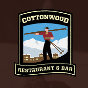 This is the restaurant logo for Cottonwood Restaurant & Bar