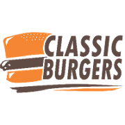 This is the restaurant logo for Classic Burgers