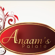 This is the restaurant logo for Anaam's Palate