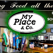 This is the restaurant logo for My Place & Company
