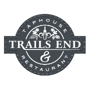 This is the restaurant logo for Trails End Taphouse & Restaurant