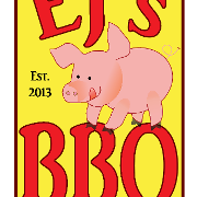 This is the restaurant logo for EJ's BBQ & Take-Out