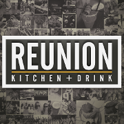 This is the restaurant logo for Reunion Kitchen + Drink