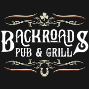 This is the restaurant logo for Backroads Pub and Grill