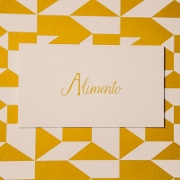 This is the restaurant logo for Alimento