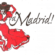This is the restaurant logo for Viva Madrid