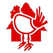 This is the restaurant logo for Pio Pio Peruvian Cuisine