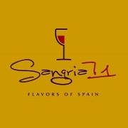 This is the restaurant logo for Sangria 71 - Island Park
