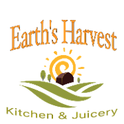 This is the restaurant logo for Earth's Harvest Kitchen & Juicery