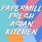 This is the restaurant logo for PaperMill Fresh Asian Kitchen