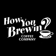 This is the restaurant logo for How You Brewin Coffee Co.