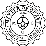 This is the restaurant logo for Matter of Craft