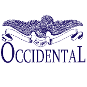 This is the restaurant logo for The Occidental