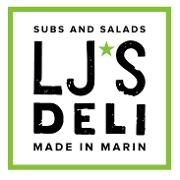 This is the restaurant logo for LJ's Deli
