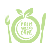 This is the restaurant logo for Palm Greens Cafe