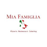This is the restaurant logo for Mia Famiglia Restaurant & Pizzeria