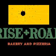 This is the restaurant logo for Rise + Roam Bakery & Pizzeria