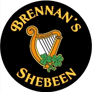 This is the restaurant logo for Brennan's Shebeen Irish Bar & Grill