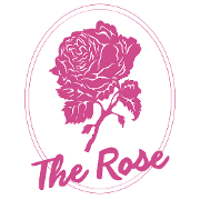 This is the restaurant logo for The Rose Wine Bar