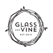 This is the restaurant logo for Glass & Vine