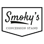 This is the restaurant logo for Smoky's Concession Stand