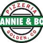 Restaurant logo for Mannie & Bo's Pizzeria