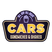 This is the restaurant logo for CARS Sandwiches & Shakes