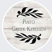 This is the restaurant logo for Piato Greek Kitchen