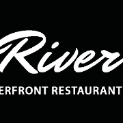 This is the restaurant logo for River: A Waterfront Restaurant & Bar