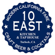 This is the restaurant logo for 10 East Kitchen & Taphouse