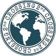 This is the restaurant logo for Crossing 2nd