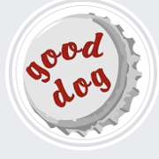 This is the restaurant logo for Good Dog Bar