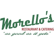 This is the restaurant logo for Morello's Restaurant and Catering