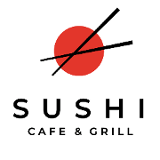 This is the restaurant logo for Sushi Cafe