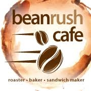 This is the restaurant logo for Bean Rush Cafe - Crownsville