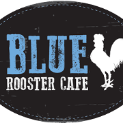 This is the restaurant logo for Blue Rooster Cafe