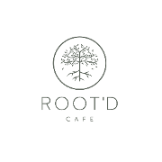 This is the restaurant logo for Root'd Cafe